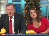 Piers Morgan and Susanna Reid on Good Morning Britain on December 3, 2020