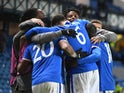 Rangers celebrate Scott Arfield's goal against Standard Liege in the Europa League on December 3, 2020