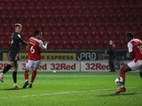 Marcus Forss scores for Brentford against Rotherham United in the Championship on December 1, 2020