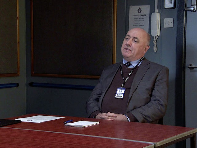 Gary is interviewed on the first episode of Coronation Street on December 23, 2020