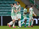 Celtic's David Turnbull celebrates scoring against Lille in the Europa League on December 10, 2020