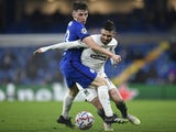 FC Krasnodar's Remy Cabella in action with Chelsea's Billy Gilmour in the Champions League on December 8, 2020