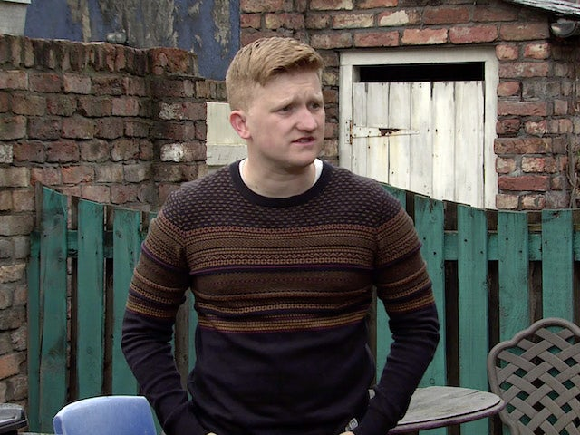 Chesney on the first episode of Coronation Street on December 21, 2020