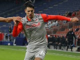 Dominik Szoboszlai in action for Salzburg on December 9, 2020