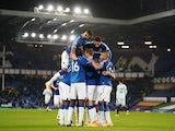 Gylfi Sigurdsson celebrates scoring for Everton against Chelsea in the Premier League on December 12, 2020