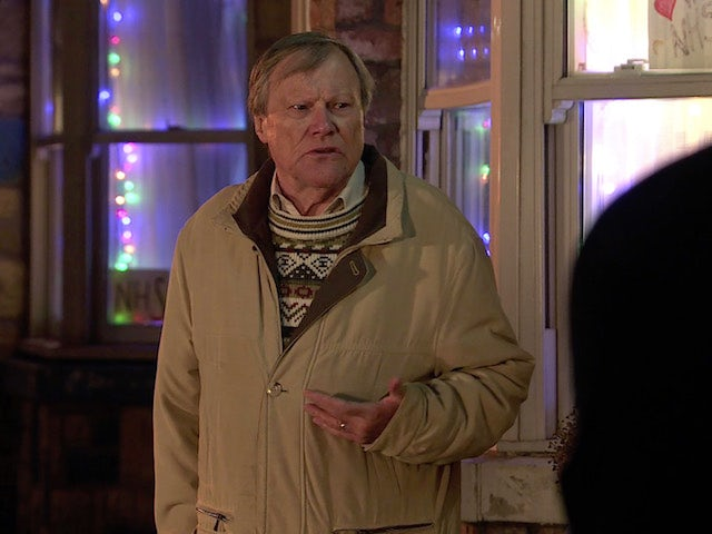 Roy on Coronation Street on New Year's Day, 2021