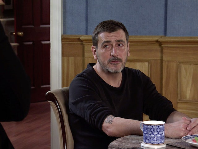 Peter on Coronation Street on New Year's Day, 2021
