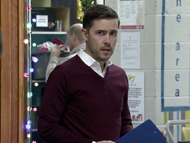 Todd on the first episode of Coronation Street on December 21, 2020