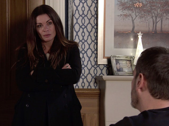 Carla on Coronation Street on New Year's Day, 2021