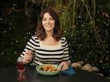 Nigella Lawson enjoys nduja pasta and red wine on Nigella's Cook, Eat, Repeat