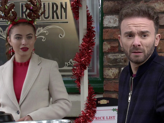 Daisy and David on the first episode of Coronation Street on Christmas Day, 2020