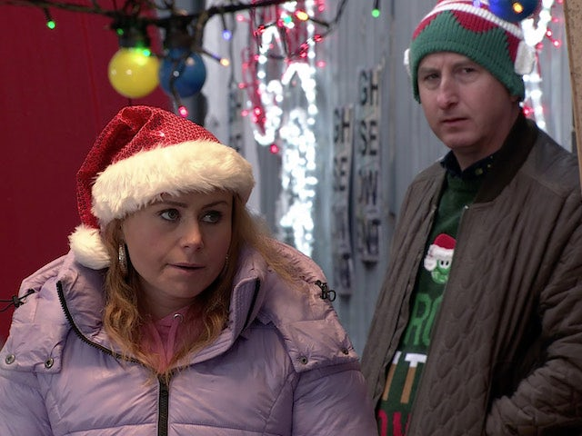 Gemma and Kirk on the first episode of Coronation Street on December 23, 2020