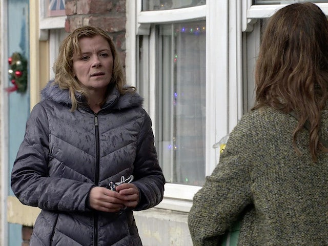 Leanne on Coronation Street on Christmas Eve, 2020
