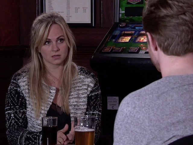 Sarah on the first episode of Coronation Street on December 23, 2020