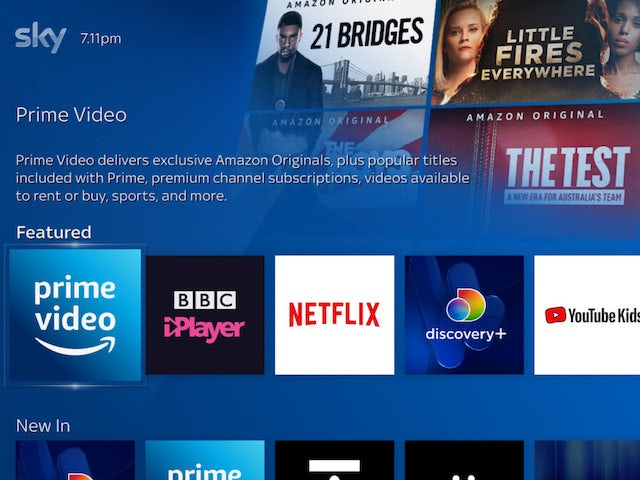Amazon Prime Video launches on Sky Q