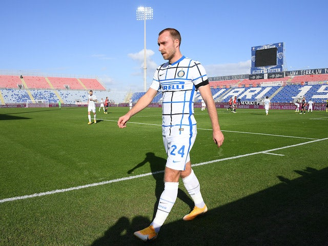 Christian Eriksen in action for Inter on December 13, 2020