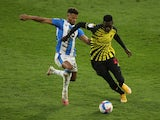 Huddersfield Town's Fraizer Campbell in action with Watford's Ismaila Sarr on December 19, 2020
