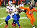 Buffalo Bills quarterback Josh Allen in action against Denver Broncos on December 19, 2020