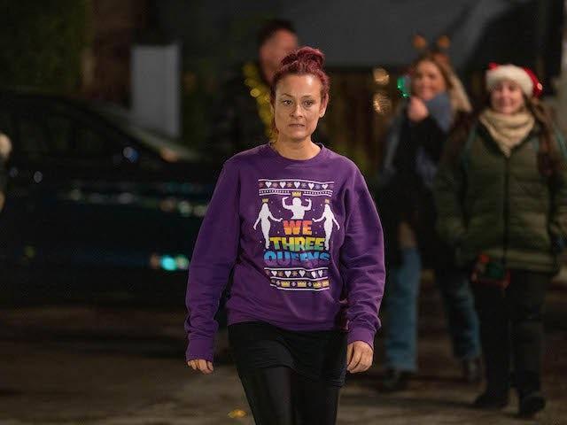 Tina on EastEnders on Christmas Eve 2020