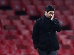 Arsenal manager Mikel Arteta looks dejected during his side's Premier League defeat to Burnley on December 13, 2020