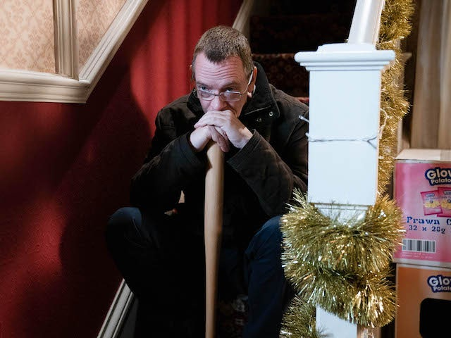 Ian on EastEnders on Christmas Day 2020