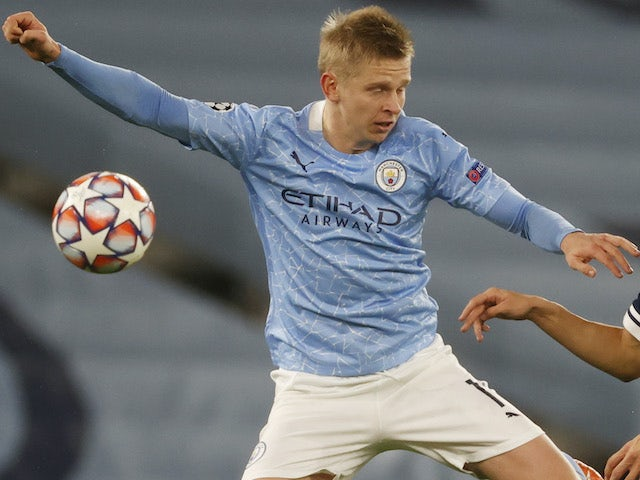 Oleksandr Zinchenko in action for Man City in the Champions League on November 3, 2020