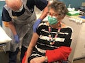 Prue Leith receives her coronavirus vaccine on December 15, 2020
