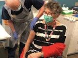 Prue Leith receives her coronavirus vaccine on December 15, 2020