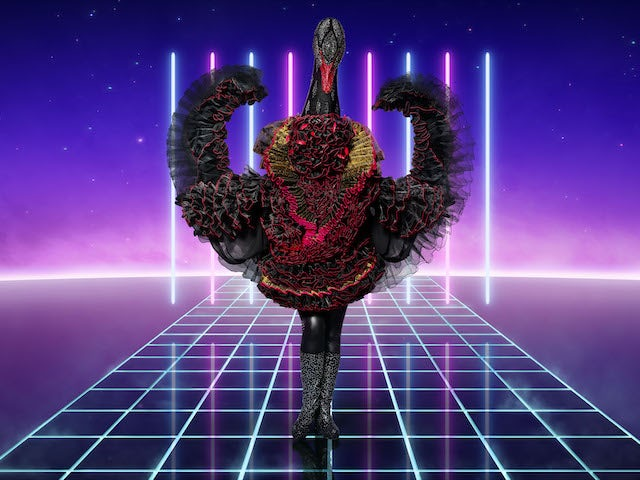 Swan on series two of The Masked Singer