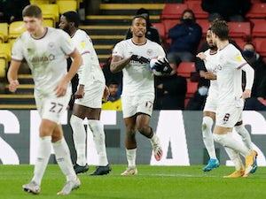 Ivan Toney scores equaliser for 10-man Brentford at Watford