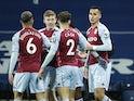 Aston Villa's Anwar El Ghazi celebrates scoring against West Bromwich Albion in the Premier League on December 20, 2020