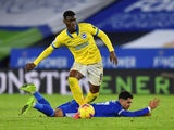 Brighton & Hove Albion's Yves Bissouma in action with Leicester City's Ayoze Perez in the Premier League on December 13, 2020
