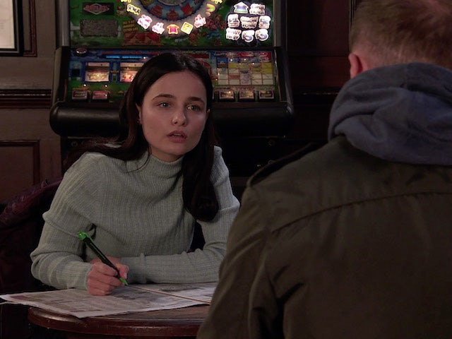 Alina on the second episode of Coronation Street on January 6, 2021