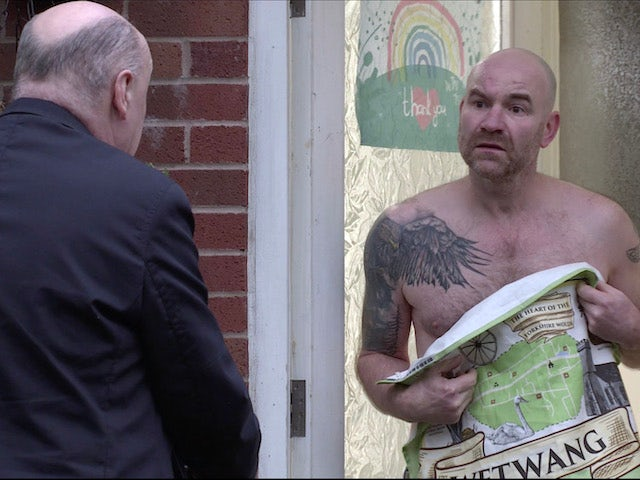 Tim on the first episode of Coronation Street on January 13, 2021