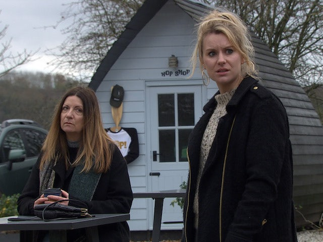 Harriet and Dawn on the second episode of Emmerdale on January 14, 2021