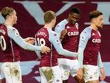 Kortney Hause celebrates scoring for Aston Villa against Crystal Palace on December 26, 2020