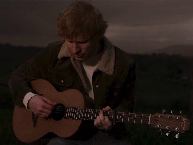 Ed Sheeran performed 'Three Lions' for England squad