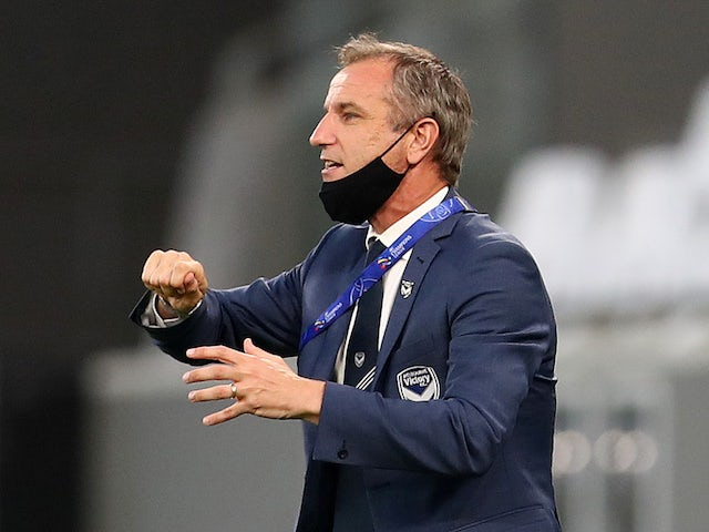 Melbourne Victory manager Grant Brebner pictured in December 2020