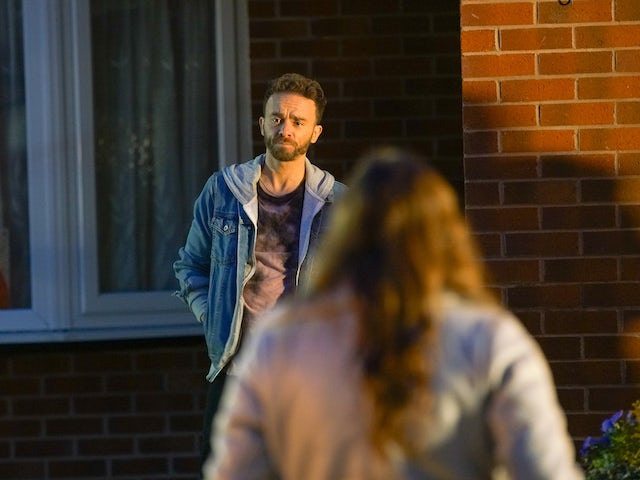 David on the second episode of Coronation Street on January 6, 2021