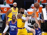 Los Angeles Lakers forward LeBron James in action against the Los Angeles Clippers on December 22, 2020