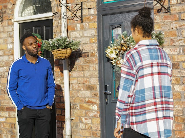 Michael and Grace on the first episode of Coronation Street on January 4, 2021
