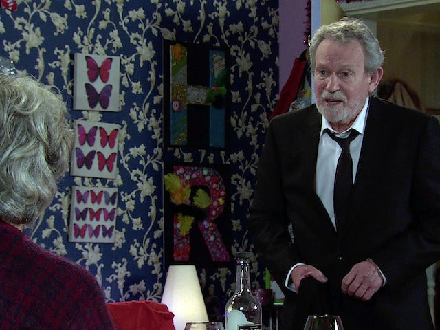 Arthur on the second episode of Coronation Street on January 4, 2021