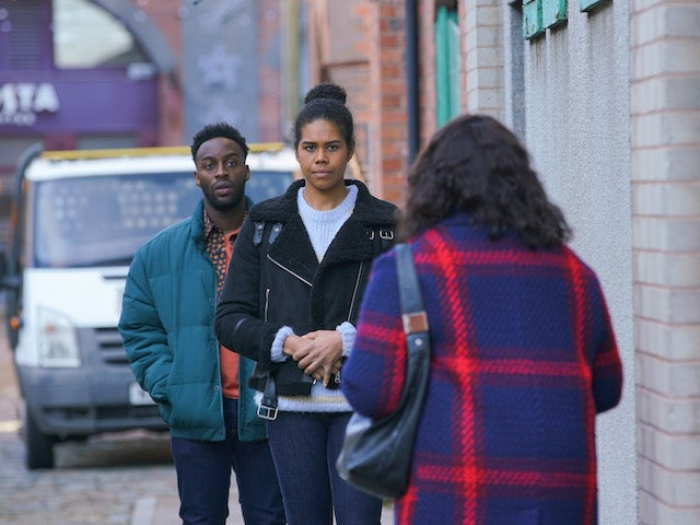 Grace and Michael on the first episode of Coronation Street on January 6, 2021