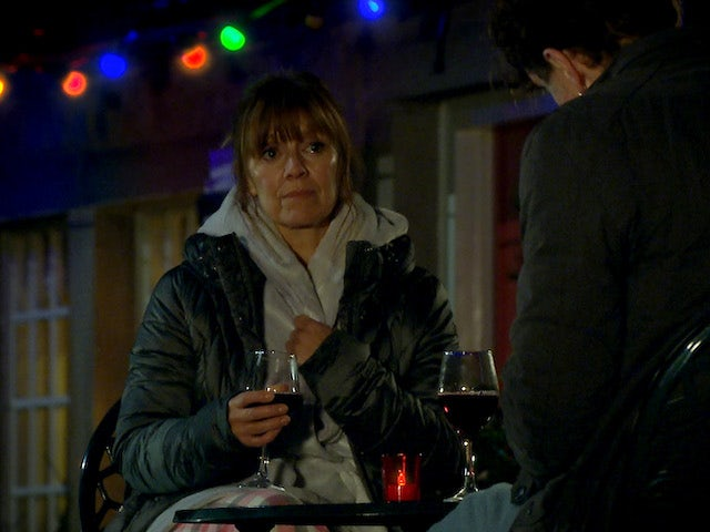 Rhona on Emmerdale on New Year's Eve 2020