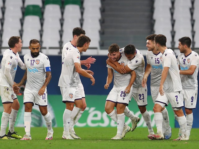 Perth Glory players pictured in November 2020