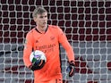 Arsenal goalkeeper Runar Alex Runarsson pictured in December 2020