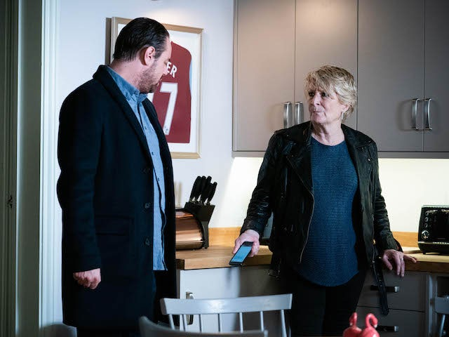Mick and Shirley on EastEnders on January 14, 2021