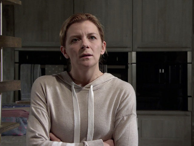 Leanne on the first episode of Coronation Street on January 6, 2021