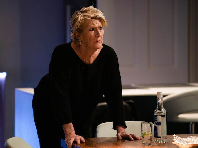 Shirley on EastEnders on January 12, 2021