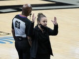 San Antonio Spurs assistant coach Becky Hammon pictured on December 30, 2020